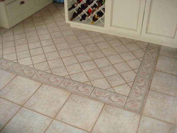 Ceramic Floor Tile With Floor Painting